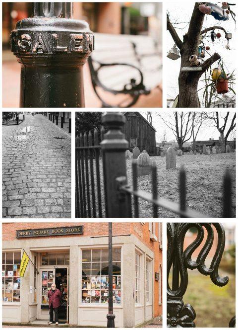 Various images of Salem, Massachusetts